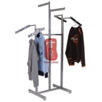 Metal Clothing Display Stands Six Arms with Chorme Plating for Retail Store Manufactures