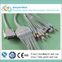 Quality Nihon Kohden ekg cable with din3.0, 10/12 lead ekg cable, medical ecg ekg cable for sale