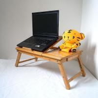 China Cheap Small Computer Desk Modern Bed / Sofa Folding Bamboo Laptop Table on sale
