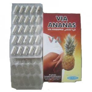 Via Ananas Via Pineapple weight loss Fat Burner Diet pills Toxin Eliminator Beauty Skin Manufactures