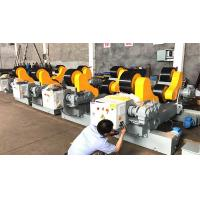 China 500 - 3500 Mm Tank 20T Pipe Welding Rollers With Motorized Moving Wheels on sale
