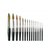 China Pro 15 Pieces Body Makeup Paint Brushes Watercolour Oil Paint Round Brush Collection on sale