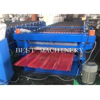 PPGI Steel Two Layer Corrugated Roof Sheeting Machine , Roof Sheet Rolling Machines Manufactures