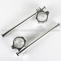 China 46mm Adjustable Aluminum Motorcycle Clip On Handlebars ZX6R ZX9R ZRX 1100 1200 CNC Machined on sale