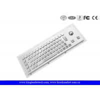 China Rugged Waterproof Industrial Computer Keyboard In Metal With Integrated Trackball wholesale