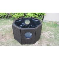 China Strong Dark Brown Rattan Fish Tank With Power Coated Aluminum Frame on sale