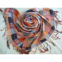 China Yarn Dyed Checked Cotton Scarf (HP-C262) on sale