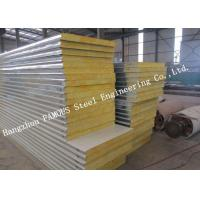 China Fast Construction Easy Installation Rock Wool Sandwich Panels Water Proof Wall Systems on sale