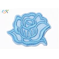 China Exquisite Subshrubby peony flower Sew-on backing Embroidered Patches For Sheet clothes on sale