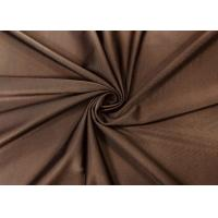 China 200GSM 85% Polyester Knitting Fabric Elasticity For Underwear Elegant Brown on sale