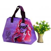 Green / Blue / Pink / Orange 75g Zipper Shopping Bag, Non Woven Carry Bags For Ladies Manufactures
