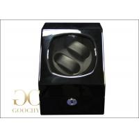 China 4 Watch Winder Box / Black Automatic Watch Winder Case PU Leather on sale