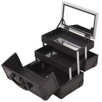 China Professional Jewelry Train Case With Mirror And Easy Clean Extendable Trays on sale
