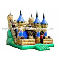 Hot Rental Inflatable Dry Slide With Bouncy Castle For Children Park Games Manufactures