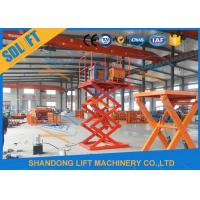 4000mm Lift Height Electric Scissor Lift Table , Hydraulic Scissor Lift For Cargo Manufactures