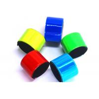 Non Toxic PVC Reflective Slap Bracelets Comfortable Fit With Free Carrying Pouch Manufactures