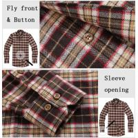 100% cotton print flannel men's long sleeve soft collar casual shirts Manufactures