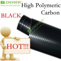 High Polymeric Carbon Fiber Vinyl Car Wrapping Film - Black Manufactures