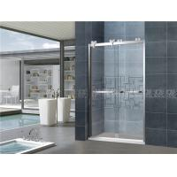 8mm Clear Sliding Glass Shower Doors Double Move Screen With Big Hanging Wheels for Home Manufactures