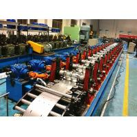 C Purlin Roll Forming Machine / C Section Roll Forming Equipment Servo Flying Cutoff Type Manufactures