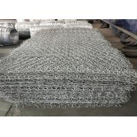 Hot Dipped Electro Galvanized Stone Cage Wire Mesh 60x80mm Size ISO9001 Listed Manufactures