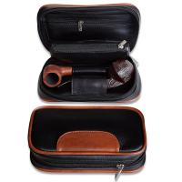 Leather Tobacco Pipe Pouch Accesories Bag Holder 2 Pipes and Other Accessories Manufactures