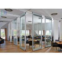 Professional Office Glass Partition Walls , Aluminum Partition Wall For Door Manufactures