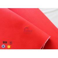Anti Acid 480gsm 0.45mm Fiberglass Fire Blanket Red With Acrylic Coated Manufactures