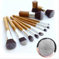 Hotsell ! Authentic Professional 11 Piece Bamboo Make Up Brush Set small qty accpet Manufactures