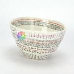 Vintage Irregular Shape Handmade Pottery Soup Bowls Unusual Design Manufactures
