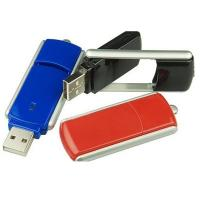 China Rotating  Plastic USB Flash Drive , Red  Blue Color Plastic Flash Drive 70*19*5mm on sale