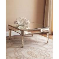 Hot selling square mirrored coffee table living room furniture Manufactures