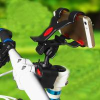 Black / White Universal Bike Mobile Phone Holder for iPhone 5S , Bicycle Handlebar Flexible Holder Manufactures