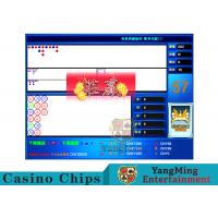 Blue Baccarat Gambling Systems Flexible With Cancellation Back Functions Manufactures