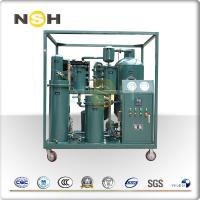 China Decoloring Hydraulic Oil Cleaning Machine / Movable Vacuum Hydraulic Oil Purifier Unit on sale