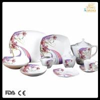cheap fine porcelain Chinese kitchenware/47pcs square dinnerware Manufactures