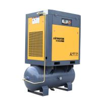 China 8bar Pressure Screw Air Compressor 11kw 15HP with 300L Tank Air Dryer for Sandblasting on sale