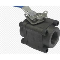 API6D 3 Piece Full Bore Ball Valve SW  NPT Ends Forged Steel Material Manufactures