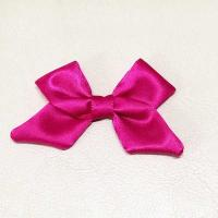 Red Ribbon Bow Crafts Fabric Material 8cm Long Gift Packing Eco - Friendly Manufactures