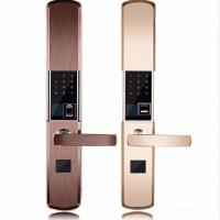 Intelligent Zinc Alloy Fingerprint Door Lock With Super C Class Cylinder Manufactures