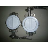 Sanitary Full PTFE Coated Wafer Butterfly Valve for hydrofluoric acid, phosphoric acid Manufactures