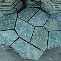 Quality Natural stone Green Slate Meshed Back Flagstone Floor Tile Corrosion And Wear Resistance for sale