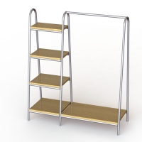 Inverted U Shaped Shoe Display Stand With MDF Shelves Manufactures