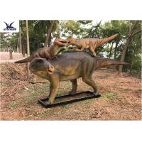 Life Size Animatronic Dinosaur Garden Ornaments Mother And Baby Garden Display Manufactures