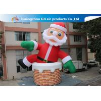 China 10m Big Inflatable Holiday Decorations / Blow Up Father Christmas on sale