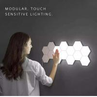 Touch Sensitive LED Quantum Wall Lamp Plastic Hexagonal For Gift DIY Lovers Manufactures