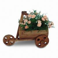 Wooden Flower Pot, Measuring 42 x 20 x 33cm, Customized Designs, Sizes and Shapes Available Manufactures