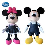 Black Disney Plush Toys Black Mickey Mouse And Minnie Mouse 16 inch Manufactures