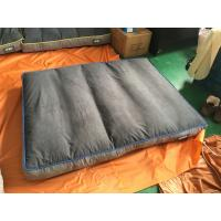 China Shredded Memory Foam Dog Crate Pad Waterproof Suede Fabric Washable Grey Color on sale