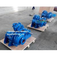 Smaller Model of Heavy Duty Slurry Pump Used for Mill Discharge Filter Press with Closed Hard Metal Impellers Manufactures